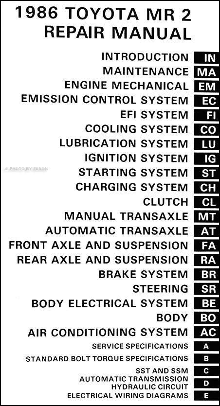 service manual pdf 1986 toyota mr2 transmission service