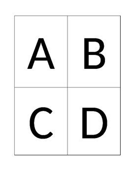abcd cards template abcd response card template by the never boring mrs