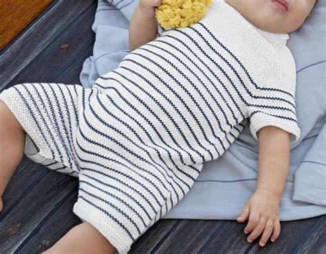 knitting pattern newborn romper baby boy summer romper suit