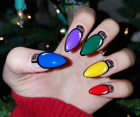 a nail artist seriously sleighed this colorful christmas
