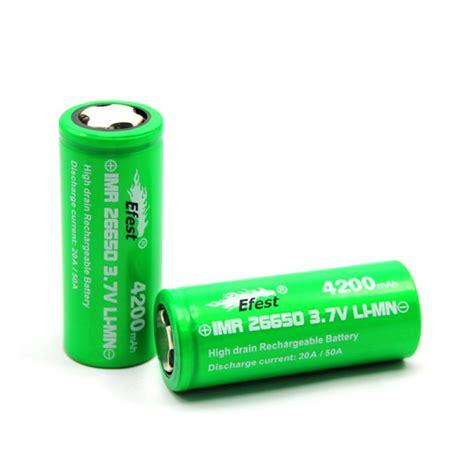 Mxjo 26650 Battery Vape 4200mah efest green 26650 4200mah f battery 50s