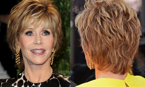 over 50 short hairstyle front and back views short haircuts women over 60 front and back short