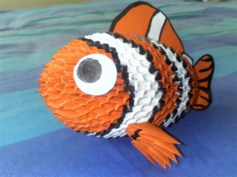 orange clown fish album master ha 3d origami