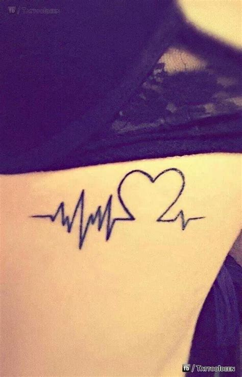 tattoo of a heartbeat heart beat tattoo permanent ink pinterest