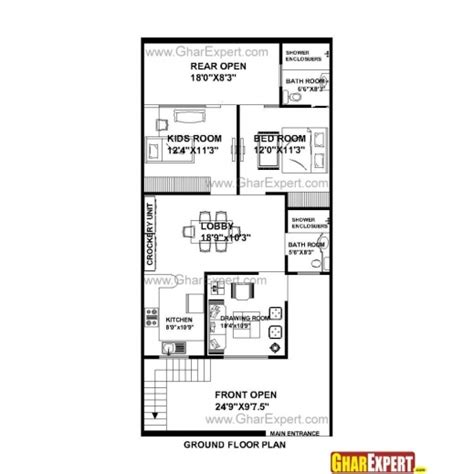 house design 15 feet by 60 feet marvelous house plan india east facing x plans north