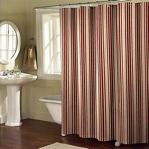 burgundy and beige curtains sorrento stripe shower curtain in burgundy tan bed bath