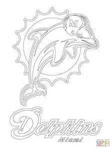 Miami Dolphins Coloring Pages miami dolphins logo coloring page free printable
