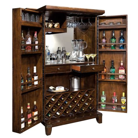Furniture Wine Bar Cabinet Home Bar Wine Cabinet Howard Miller Rogue Valley 695122 Clockshops