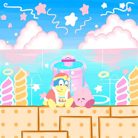 1405842776 level the adventures of arche エガキ finished all 8 levels of kirby s adventure