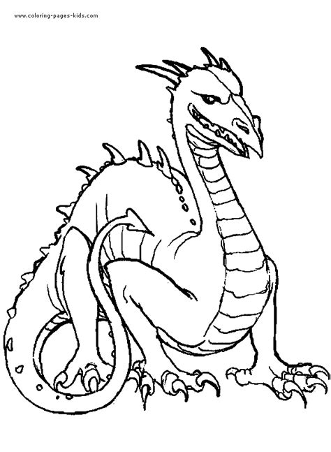 Dragon Knight Coloring Coloring Pages Midevil Dragons Coloring Pages