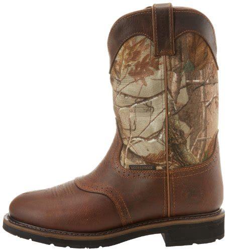 justin mens camo waterproof work boots justin original work boots s stede camo waterproof