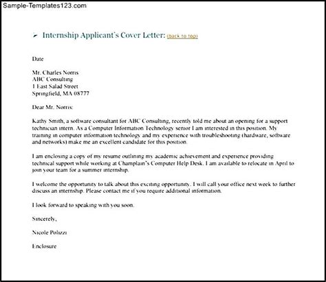 Cover Letter In Of Email by Cover Letter For Internship Sle Pdf Internship Cover Letter Sle Marketing Email Exle