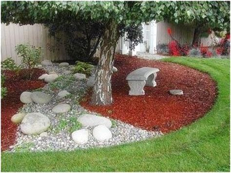 Colored Rocks For Garden Colored Mulch And Light Lrg N Sm Rocks Gardening