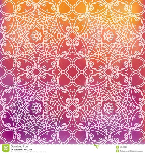 design pattern use lace pattern background with indian ornament stock image