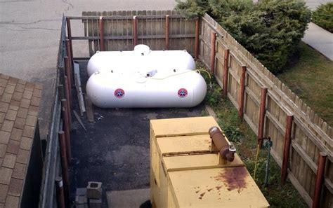 propane tank sizes for generator