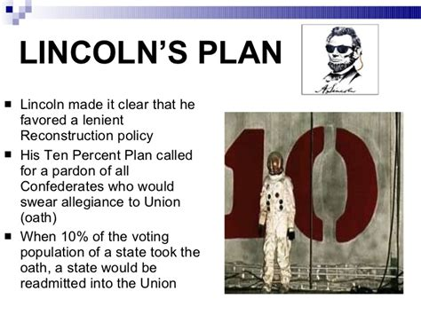 abraham lincoln 10 plan causes of the civil war through reconstruction