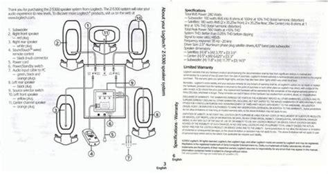 image gallery logitech z 5500 manual pdf