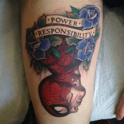 red rocket tattoo spider thigh done at rocket nyc by