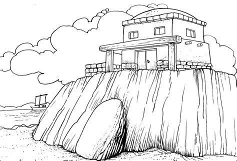 coloring pages house on the rock free coloring pages of wise and foolish builders