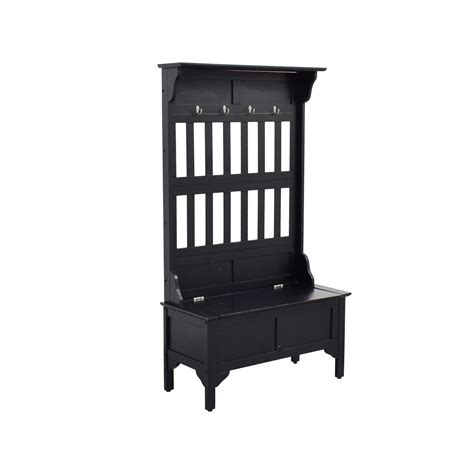 bench with rack 68 off entryway coat rack with bench storage