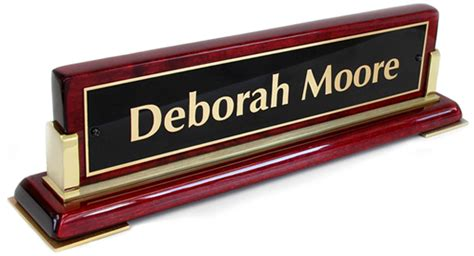 Nameplates For Office Desk Wood Name Plates Brass Name Plates Desk Signs For Banks Firms