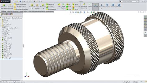 tutorial solidwork solidworks tutorial sketch thumb screw in solidworks