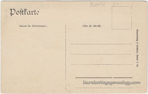 Berlin Germany Birth Records Gruss Aus Berlin Laurel Cottage Genealogy