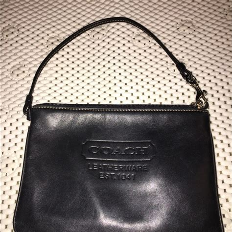 Coach Htons Vintage Leather Wristlet by Coach Sale Coach Vintage Black Leather Wristlet From