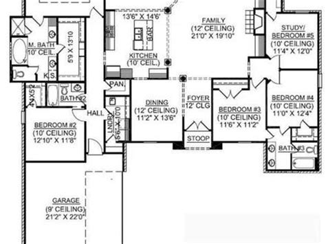 1 5 story cape cod house plans for single women bedroom ideas single story 5 bedroom house floor plans single story