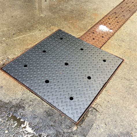 metal pit cover custom grates and drain covers bc site service