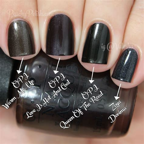 opi comparisons holiday 2014 gwen stefani collection opi love is hot and coal comparison holiday 2014 gwen