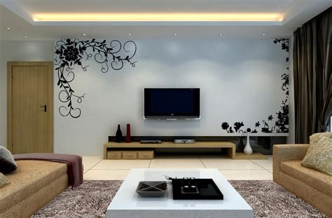 Living Room Tv Wall | 3d living room interior tv wall picture 3d house free