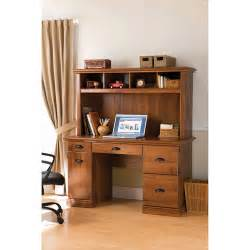 Computer Desk And Hutch Better Homes And Gardens Computer Workstation Desk And Hutch Oak Walmart