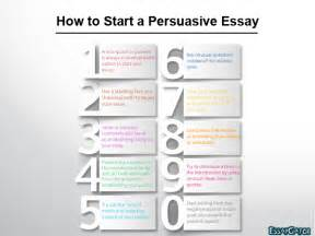 How To Write A Persuasive Argument Essay by How To Start Persuasive Essay