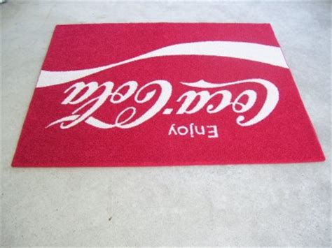 coca cola rug custom coke enjoy coca cola 70s logo 4 x5 area rug shaw carpet ebay