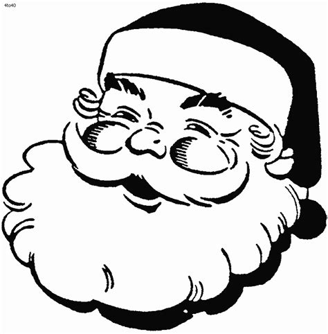 printable santa face santa claus face template coloring home