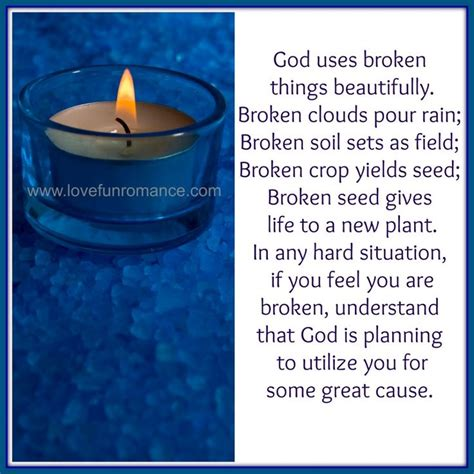 God Uses Broken by God Uses Broken Things Beautifully My Faith