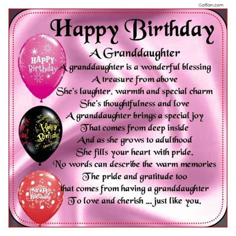 Happy Birthday Wishes For A Granddaughter 65 Popular Birthday Wishes For Granddaughter Beautiful