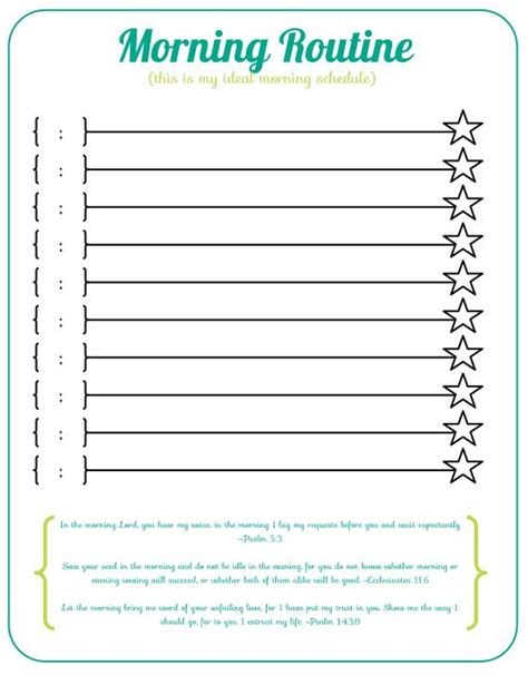 blank daily routine planner printable organizing in living color daily routines morning