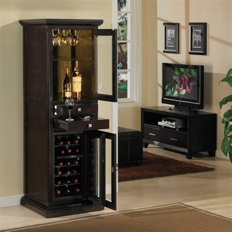 modern bar cabinet with fridge meridian 18 bottle wine cabinet modern wine and bar