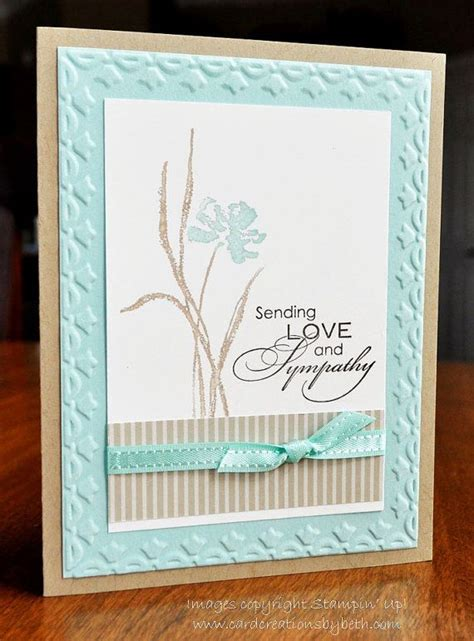 Handmade Sympathy Card Ideas - handmade sympathy card stin up blank inside