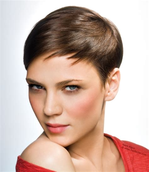 gamine haircuts for short gamine crop haircut with sharply tapered sides and