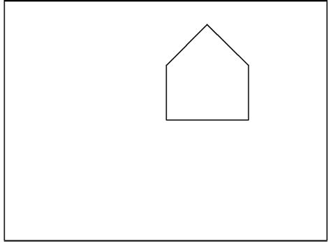 shape of house basic house drawing