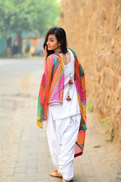 cotton embroidered patiala suit duptta material unstitched