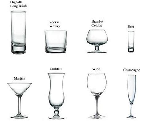 types of barware a guide to bar glass types ebay