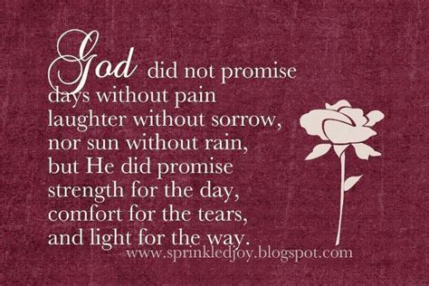 poems for comforting a friend that is grieving god did not promise i miss you