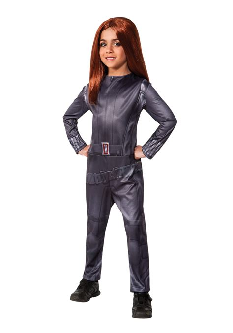 black costume child classic black widow costume