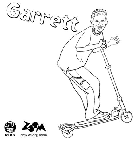 zoom coloring page zoom printables garrett s coloring page pbs kids