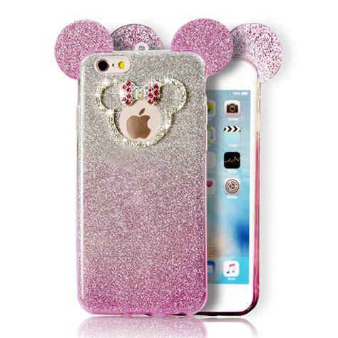 Iphone 5 6 6plus Minnie 3d wholesale iphone 7 plus minnie bow glitter