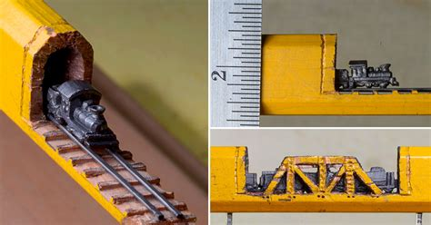 carved graphite train  tracks emerges